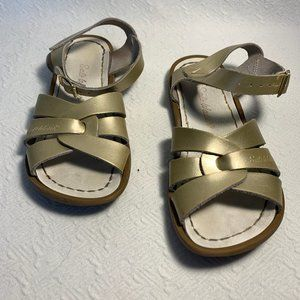 Little Girl Size 13 Gold Salt Water Sandals by Hoy